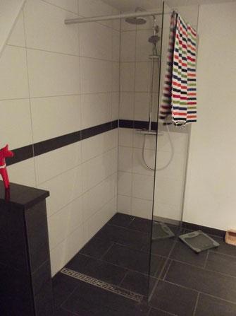Eine moderne, barrierefreie Dusche