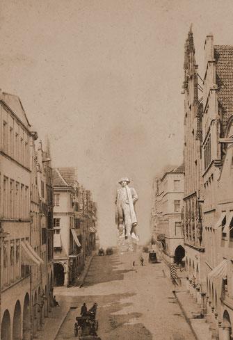Napoleondenkmal statt Lambertikirche - Fotomontage