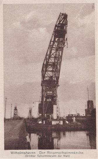 Langer Heinrich Schwimmkran Wilhelmshaven