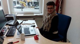 Jüngstes SPD-Mitglied im Landkreis: Leonie Liebsch bei der Arbeit. - Foto: SPD
