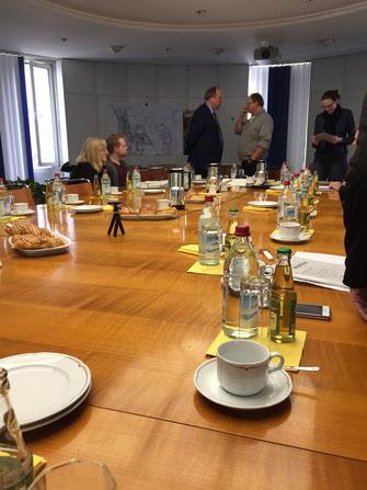 Schulzweckverband Unterhaching - Landrat Göbel und Unterhachings Bürgermeister Wolfganz Panzer