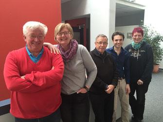 Die Teilnehmer der Fraktionsklausur, von links: Alfred Widmann, Rosemarie Weber, Peter Soellner, Matteo Dolce, Birgit Schmidl