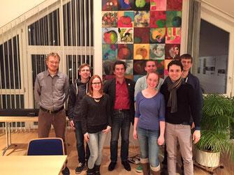 v. l.: Thomas Gebhard, Malte Kremser, Angela Gleißl, Klaus Barthel, Barbara Gleißl, Kevin Cobbe, Matteo Dolce, Felix Kempf Foto: SPD-Taufkirchen