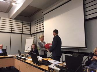 Hauptamtsleiterin Petra Welle bei ihrer Verabschiedung