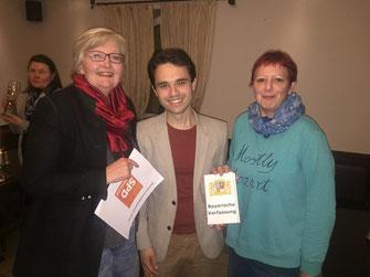 von links: Rosemarie Weber,  Matteo Dolce, Birgit Schmidl - Foto: SPD