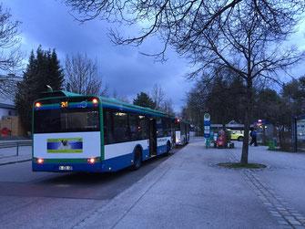 Busse des MVV am Taufkirchner Bahnhof - Foto: SPD