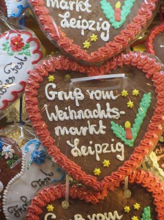 Leipziger Weihnachtsmarktgruß - Pfefferkuchenherz
