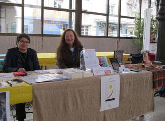 Noëlle Mirande et Isabelle Thion au Salon du livre de Vendôme