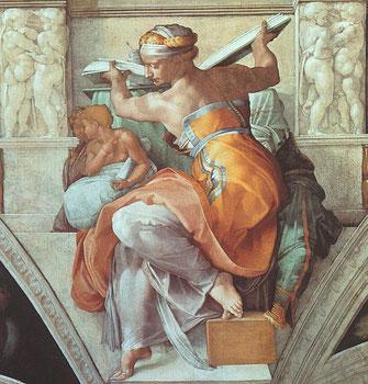 ミケランジェロ「リビアの巫女」システィーナ礼拝堂