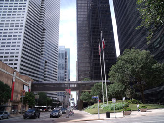 米国テキサス州ヒューストン市ダウンタウン。Downtown of Houston, Texas, the U.S.