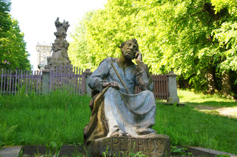 Der heilige Petrus am Kreuzweg in St. Georgental / Jiretin pod Jedlovou