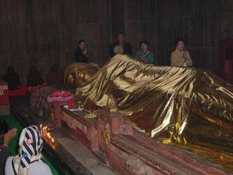 Statue of Buddha in Kushinagar
