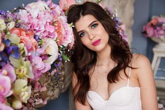 Braut geschminkt