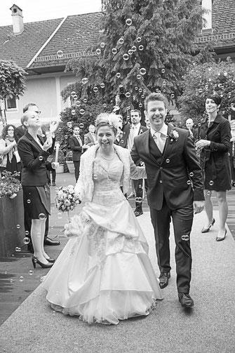 Gratulation bei der Hochzeit