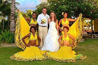 Tanzgruppe auf Mauritius