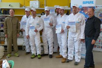 Verarbeiterschulung bei Haberl Dämmtechnik mit der Firma Knauf Insulation