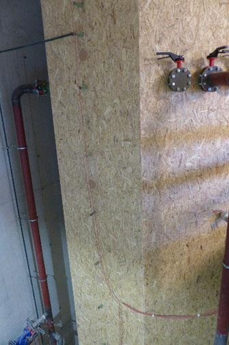 37.000 Liter Pufferspeicher druckstabil verkleidet für Einblasdämmung