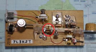 つなぎのリン青銅板の長さが若干、短かったので、槓杆の長さが短くなってしまった。でも、問題なく動作しているので、良しとする hi