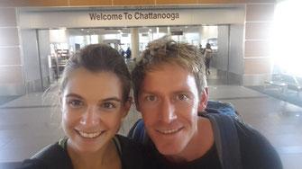 Am Ziel angekommen: Flughafen Chattanooga