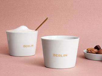 Berlin, Becher, Souvenir, Porzellan, Gold