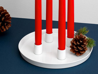 Advent Teller Porzellan Adventskranz