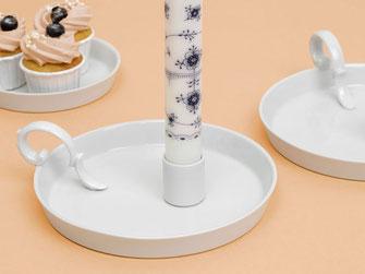 Kerzenhalter mit Henkel Porzellan