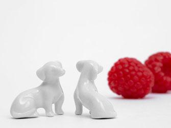 Miniatur dackel Porzellan