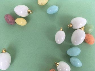 Miniatur Eier Osternest Porzellan
