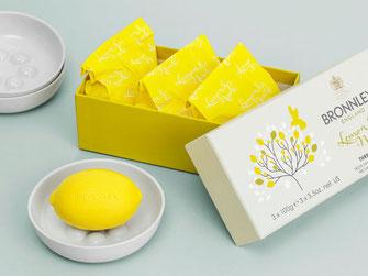 Bronnley Zitronenseife 3er Pack und einzeln