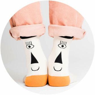 Socken & Kalender von Knallbraun