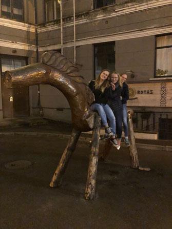 Irina, Josephine und Daniela in Riga