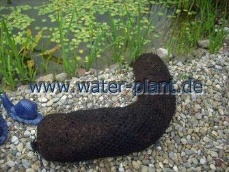 Xyilitwalze vor dem Einsetzen in einen Teich