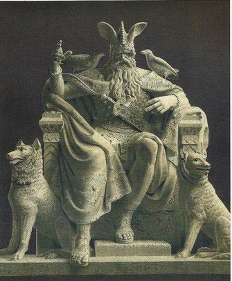 """Der """"Allvater Odin"""". Von seinem Thron im göttlichen Königreich Asgard aus regierte er alle neun Welten"""