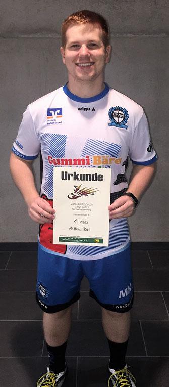 1. Platz Herreneinzel Matthias Kroll