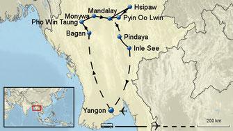 Kleingruppenreise Myanmar 15 Tage incl. 3 Inlandsflügen RGN10AA sichern Sie sich jetzt die beliebten Reisetermine im Frühjahr 2018