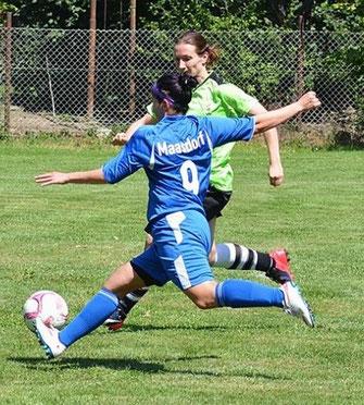 Katja Neumann erzielte insgesamt sechs Tore
