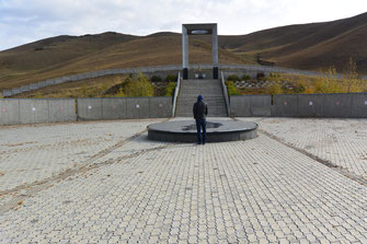 公園として整備されているダンバダルジャー日本人墓地跡