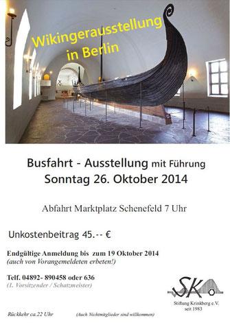 Bild: Wikingerausstellung in Berlin im Oktober
