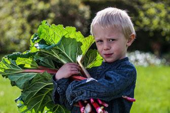 Kinder gärtnern spielerisch
