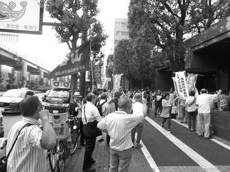 解決交渉の席を蹴り、解雇を居直るトヨタ資本を弾劾する労働者(6月16日)