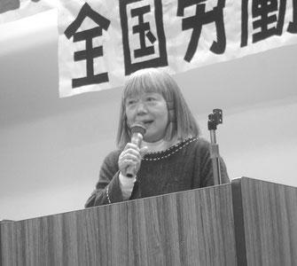「日の丸・君が代」強制に反対する闘いの決意を語る河原井氏