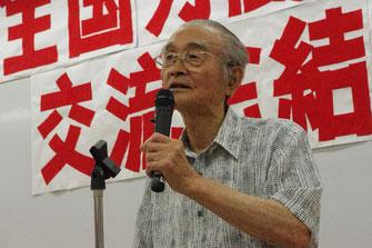 全労交結成集会で発言する佐久間氏(2012年6月)