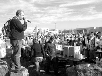 ストライキに起ちあがるアマゾンの労働者(2017年12月ドイツ)