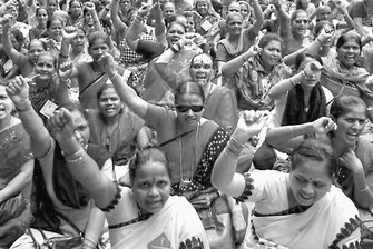 モディ政権の労働改革反対のストを闘うインド労働者(9月2日)
