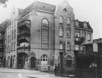 Mönchebergstraße Ecke Moritzstraße (um 1930) - links angeschnittten Mönchebergstraße 21