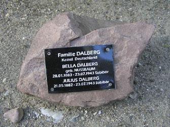 Gedenkallee Sobibor - Gedenkstein für das Ehepaar Dalberg aus Kasselhttp://www.stichtingsobibor.nl/gedenklaan-rechterkant/