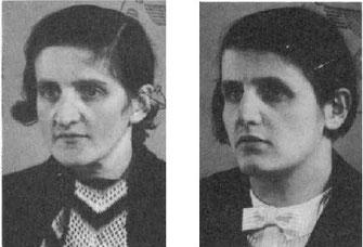 Johanna (links) und Rosi Kaschmanns Fotos auf den nationalsozialistischen Kennkarten (Stadtarchiv Kassel)