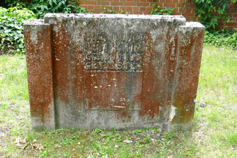 Das Grab von Levi Katz auf dem alten jüdischen Friedhof in Kassel-Bettenhausen