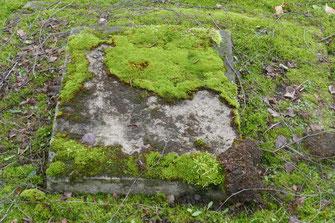 Nicht mehr lesbare Spur der Familie auf dem neuen jüdischen Friedhof in Kassel-Bettenhausen.