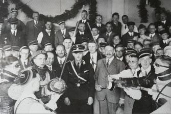 Feier der schlagenden Burschenschaft Arminia Karlsruhe (Familienalbum Menges)
